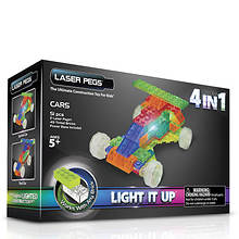 Laser Pegs 4-in-1 Cars Lighted