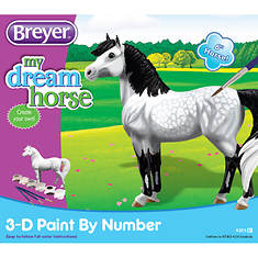 Breyer My Dream Horse-3D Paint-by-Number Dapples Grey Pony