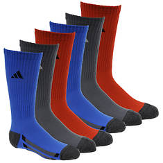 adidas Vertical Stripe 6-Pack Crew Socks (Boys')