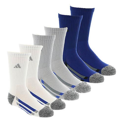 adidas Vertical Stripe 6-Pack Crew Socks (Boys')