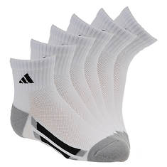 adidas Vertical Stripe 6-Pack Quarter Socks (Boys')