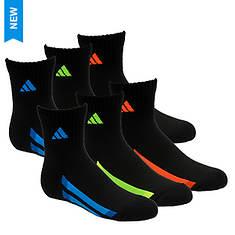 adidas Vertical Stripe 6-Pack Quarter Socks (Boys')