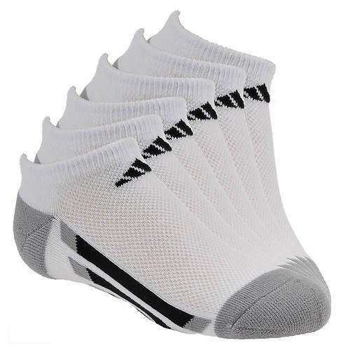 adidas Vertical Stripe 6-Pack No Show Socks (Boys')