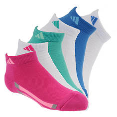 adidas Vertical Stripe 6-Pack Low Socks (Girls')