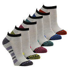 Steve Madden Women's SM34169 6PK Half Cushion Athletic Low Cut Socks