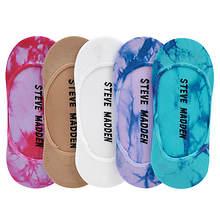 Steve Madden Women's SM28343L 5PK Tie Dye Footies