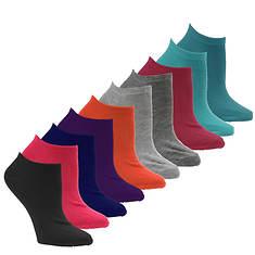 Steve Madden Women's SM29992F 10 PK Solid Low Cut Socks