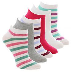 Steve Madden Women's SM33458 6PK Marled Stripe Lo Cut Socks