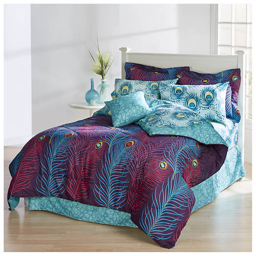 Peacock Feathers Bed-In-A-Bag Set