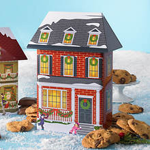 Collectible Christmas Village Tin & Treats - Brick