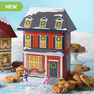 Collectible Christmas Village Tin & Treats - Brick