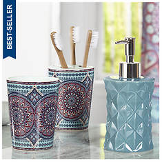 Taj Medallion 3-Piece Bath Accessory Set