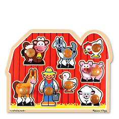 Melissa & Doug Large Farm Jumbo Knob Puzzle - 8 Pieces