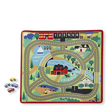 Melissa & Doug Round the Town Road Rug and Car Set