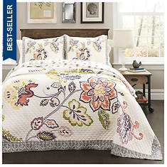 Lush Décor - Aster 3-Piece Quilt Set