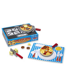 Melissa & Doug Flip & Serve Pancake Set - Wooden Play Food