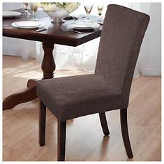Velvet Damask Dining Room Chair Slipcover