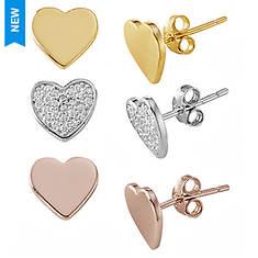 Three-Pair Heart Earring Set