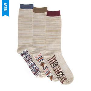 MUK LUKS Men's 3-Pack Marled Socks
