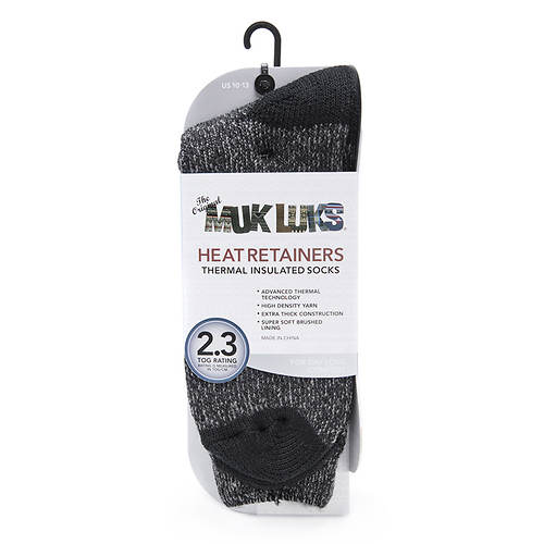 MUK LUKS Men's Heat Retainer Thermal Socks