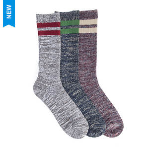 MUK LUKS Men's 3-Pk Microfiber Striped Socks