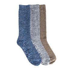 MUK LUKS Men's 3-Pk Microfiber Striped Socks