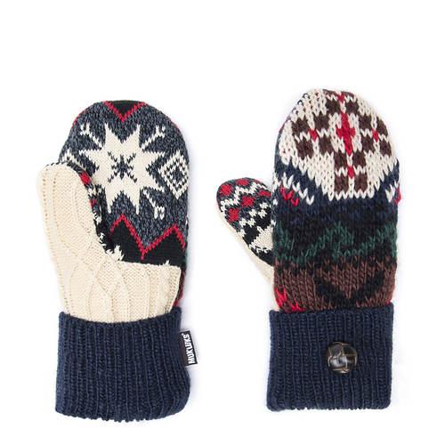 MUK LUKS Women's Winter Lodge Potholder Mittens