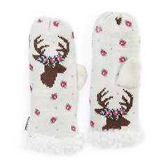 MUK LUKS Women's Happy Glamper Mittens