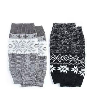 MUK LUKS 2-Pack Reversible Snowflake Boot Toppers (Women's)