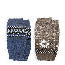 MUK LUKS 2-Pack Reversible Snowflake Boot Toppers (Women's)