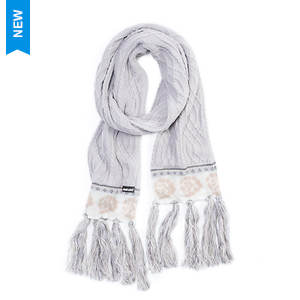 MUK LUKS Women's Cottage Rose Tassel Scarf