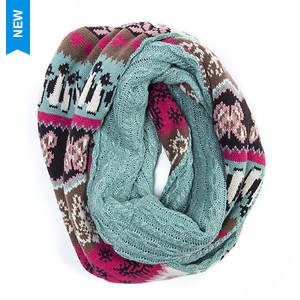 MUK LUKS Women's Happy Glamper Eternity Scarf