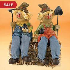 Happy Scarecrow Shelf Sitters