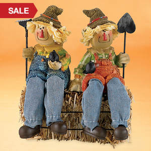 Happy Scarecrow Shelf Sitters