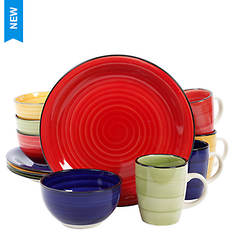 Gibson Color Vibes 12-Piece Dinnerware Set