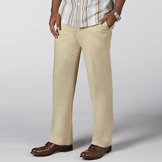 Stacy Adams Solid Linen Pant
