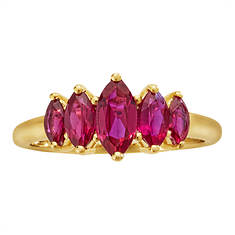 10K Gold Marquise Ruby Ring