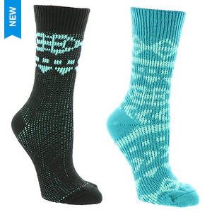 Columbia Super Soft Aztec Crew Socks 2-Pack (Women's)