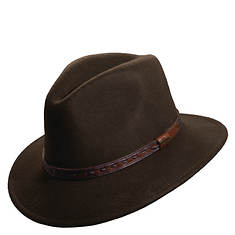 Scala Classico Men's Crushable Safari Leather Band Hat