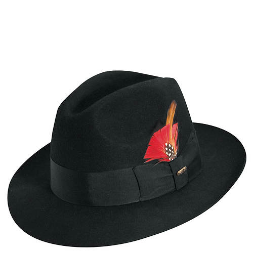 Scala Classico Men's Felt Center Dent Fedora