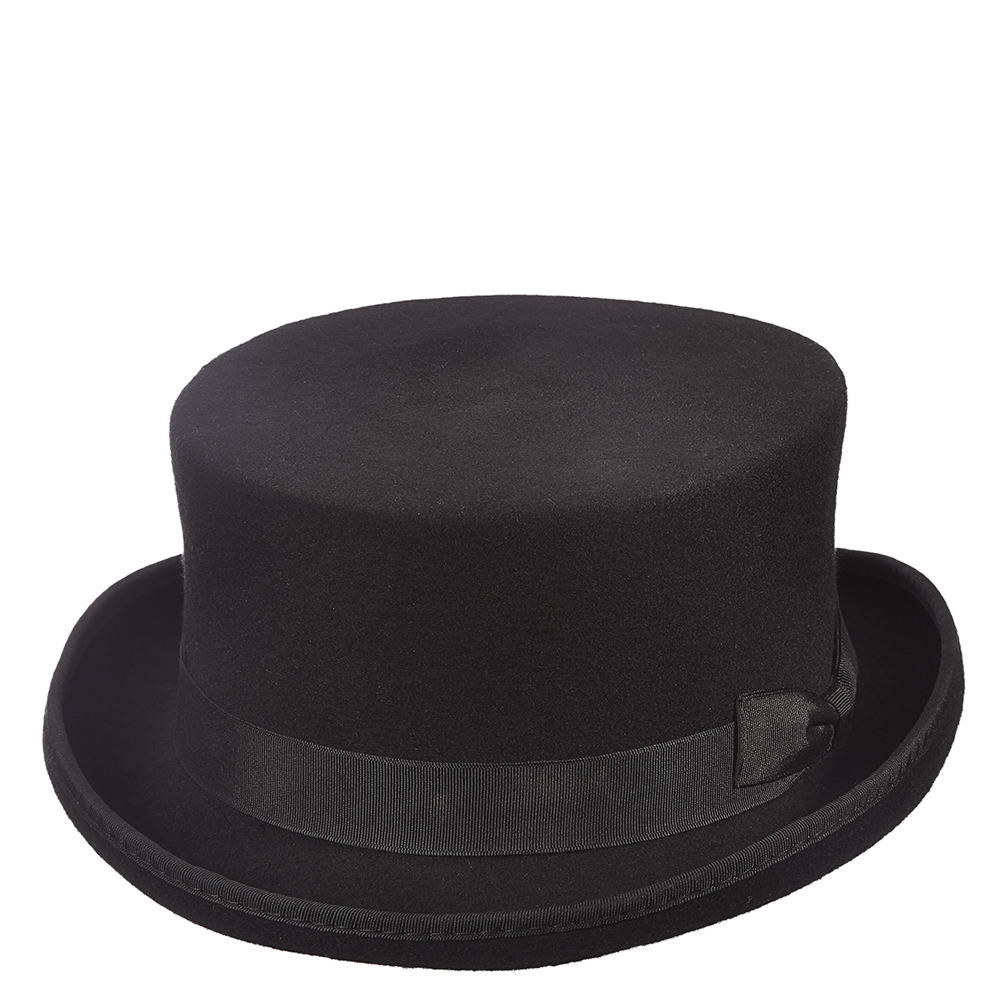 Victorian Style Hats, Bonnets, Caps, Patterns Scala Classico Mens Felt Steam Punk Top Hat Black Hats M $61.95 AT vintagedancer.com
