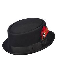 Scala Classico Men's Felt Pork Pie Stingy Brim Hat