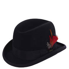 Scala Classico Men's Felt Homburg Rolled Edge Hat