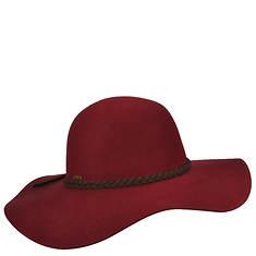 Scala Collezione Women's Big Brim Felt Leather Band Hat