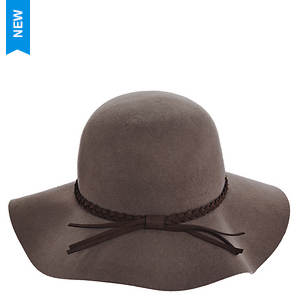 Scala Collezione Women's Big Brim Felt Leather Band Hat