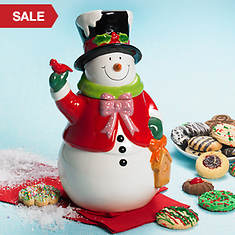 Jolly Snowman Cookie Jar