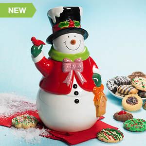 Jolly Snowman Cookie Jar