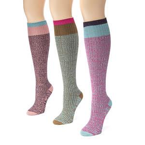 3-Pack Color Block Marl Knee High Socks