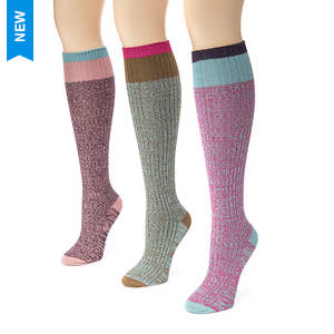 3-Pack Color Block Marl Knee High Socks