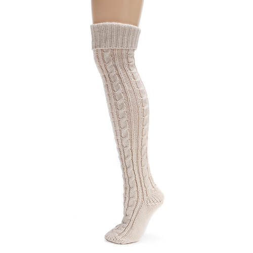 MUK LUKS Cable Knit Over-the-Knee Socks